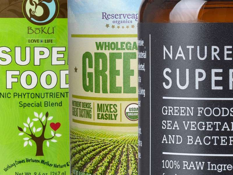 Organic green drink superfood supplement