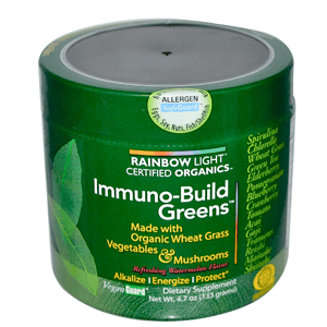 Rainbow Light Certified Organics, Immuno-Build Greens