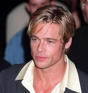 Brad Pitt medium length blonde hair 90s