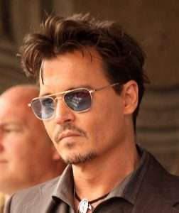 Johnny Depp short brown spikey hair