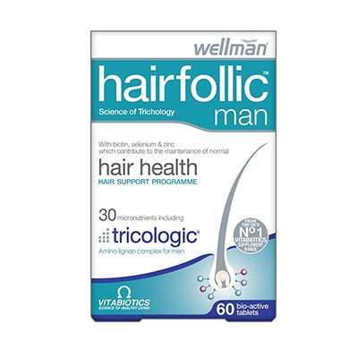 Hair supplement with iron