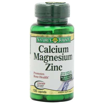 Calcium magnesium and zinc supplement