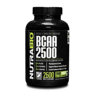 NutraBio BCAA 5000 high strength supplement