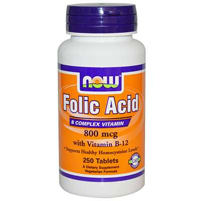 Folic acid supplement for hair