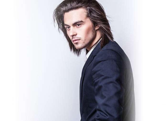 Chris with long hair