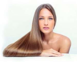 Perfect thick shiny hair