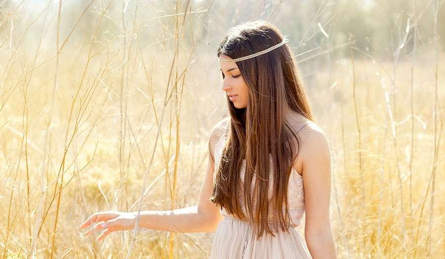 Asian woman long hair