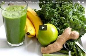 Green smoothie to encourage hair growth