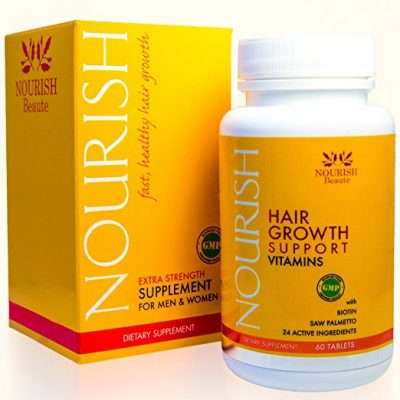 Nourish hair growth support vitamins