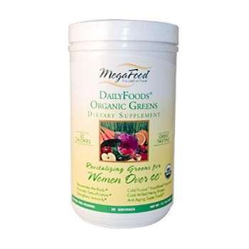 Megafood Daily Foods Organic Greens Powder Supplement for women over 40