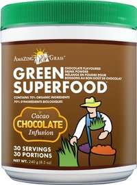Best Chocolate Flavor Organic Superfood Green Drinks