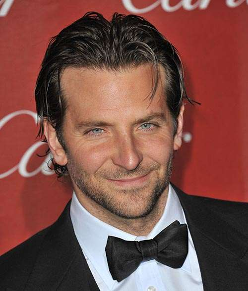 Bradley Cooper slicked back long hair