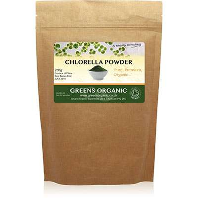 Organic cracked cell wall chlorella