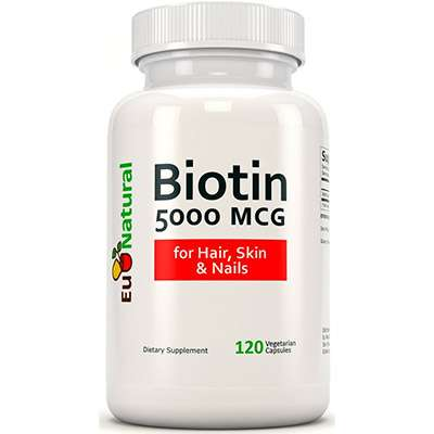 EU Natural biotin supplement for hair skin and nails