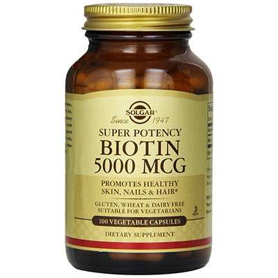 Solgar high strength biotin supplement