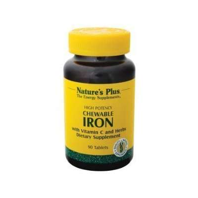High potency chewable Iron Supplement for hair