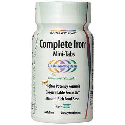 Rainbow Light High Potency Iron Supplement for Hair