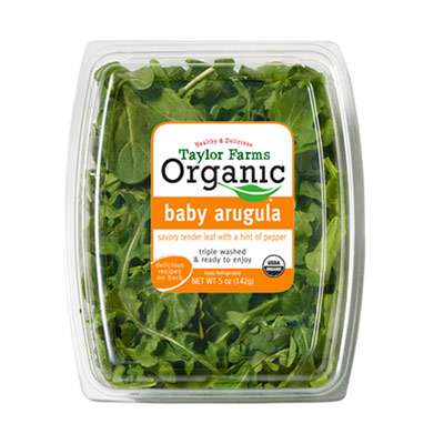 Organic baby leaf salad good sources of iron