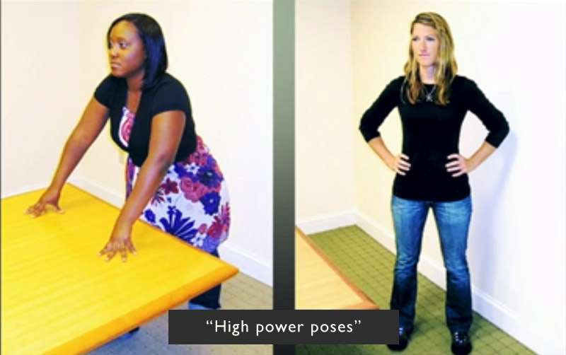 Standing high power poses