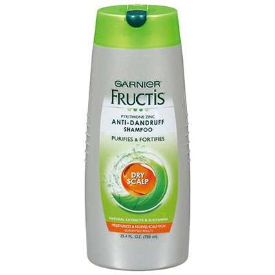 Garnier Fructis anti dandruff shampoo containing salicylic acid