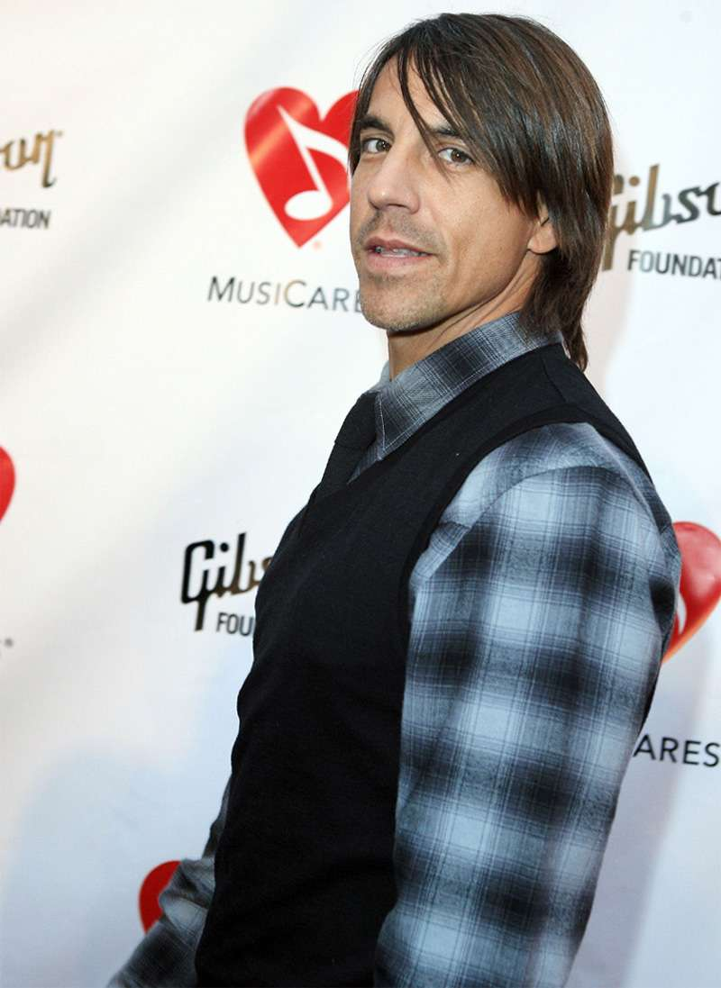Anthony Kiedis cool rockstar hair style