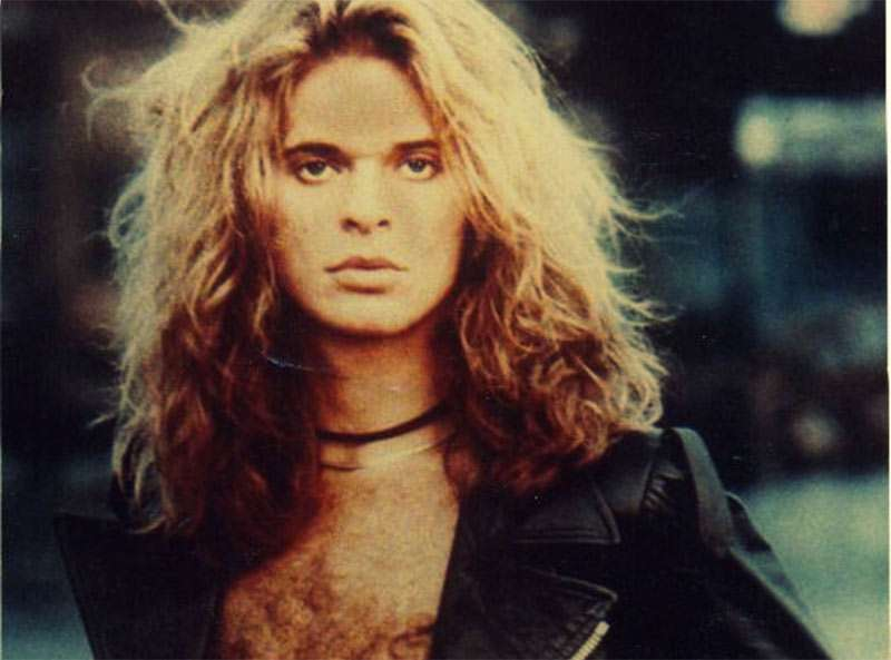David Lee Roth young long blonde hair