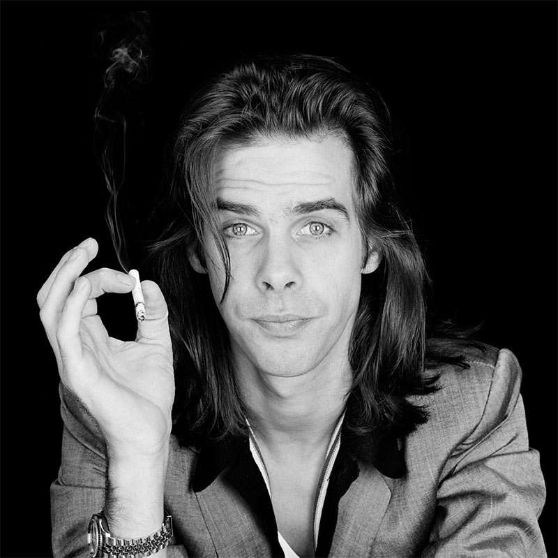 Nick Cave young long hair