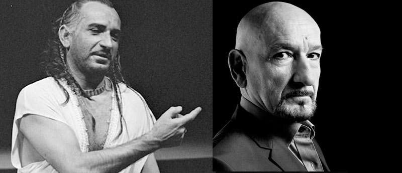 Ben Kingsley with hair and without