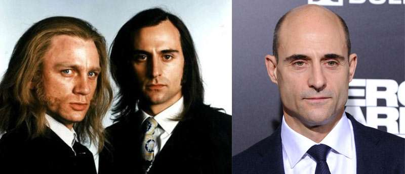 Mark Strong with hair before he was bald