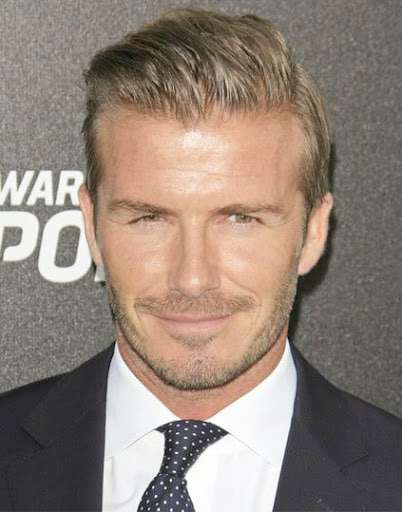 David Beckham with a modern haircut