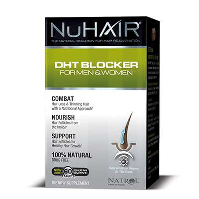 NuHair DHT blocker supplement for men and women