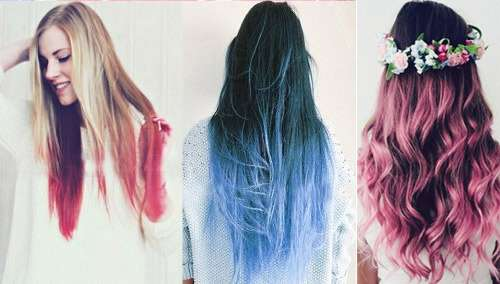 Different looks using hair extensions