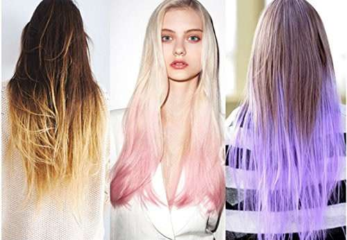 Bright color hair extensions