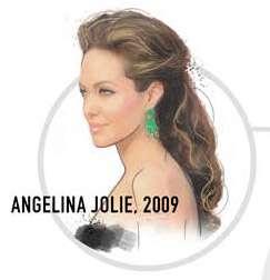 Angelina Jolie wavy brown hair