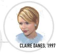 Claire Danes short blonde hair 90s