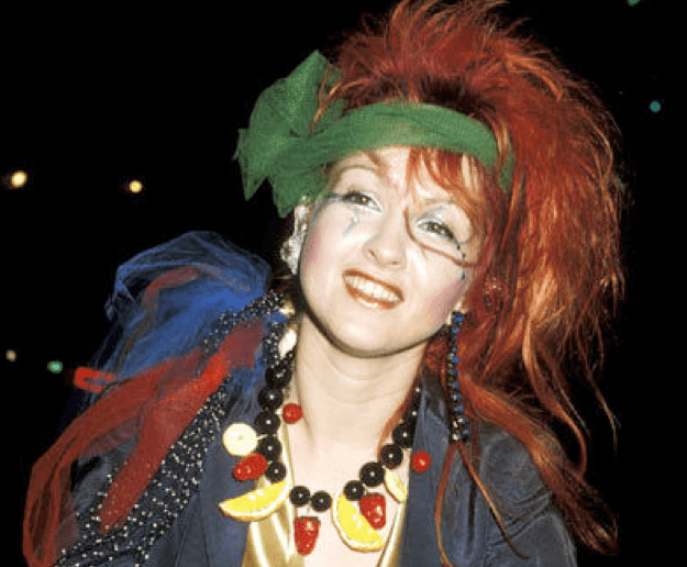 Cyndi Lauper crazy hair