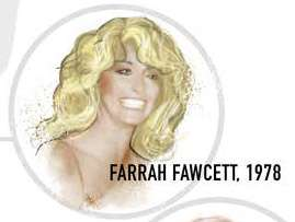 Farahh Fawcett long blonde wavy hair