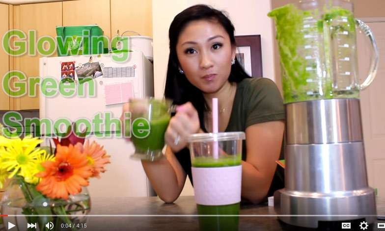 Green smoothie for hair and skin