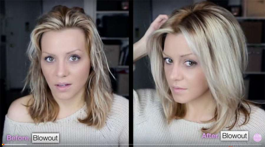 Voluminous hair blow dry tutorial