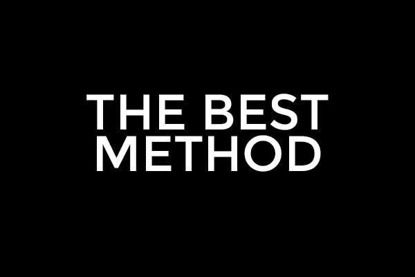 The best method
