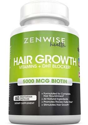 Zenwise hair growth vitamins + DHT blocker