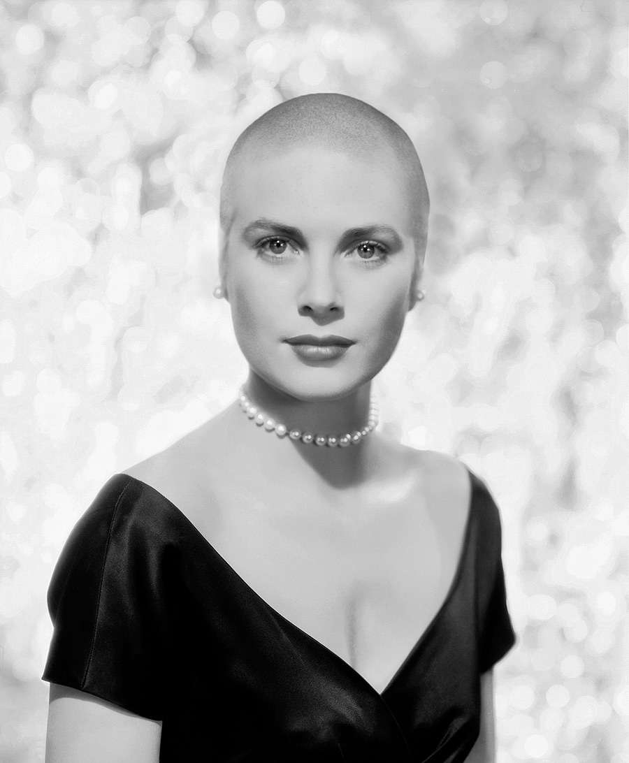 Grace Kelly with no hair