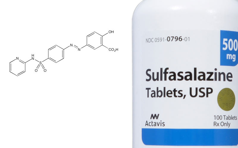 Sulfasalazine for hair loss